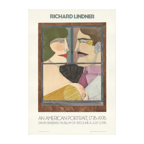 An American Portrait // Richard Lindner // 1976 Lithograph