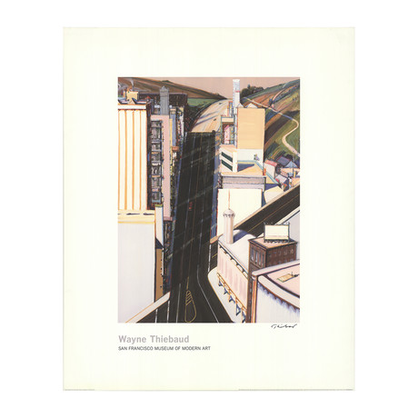 Sunset Streets // Wayne Thiebaud // 1985 Giclee // SIGNED