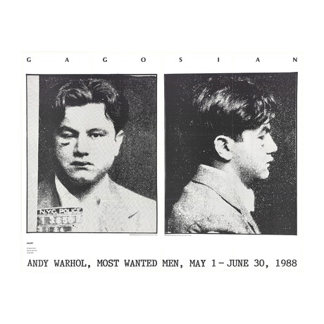 Most Wanted Men // Andy Warhol //  No. 2 John Victor G. // 1988 Offset Lithograph
