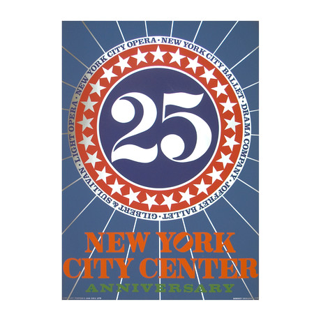 New York City Center // Robert Indiana // 1968 Serigraph