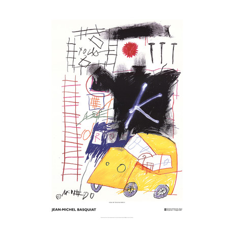 City Taxi // Jean-Michel Basquiat // 2002 Offset Lithograph