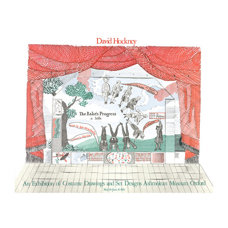 Stage Set Design from The Rakes Progress // David Hockney // 1981 Lithograph