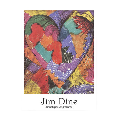 Monotypes et Gravures // Jim Dine // 1984 Offset Lithograph