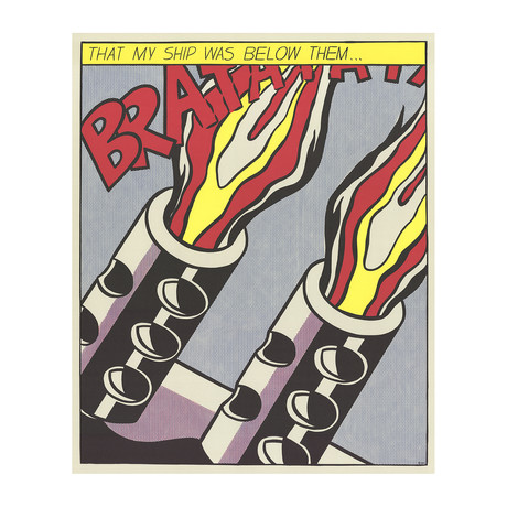 That My Ship Was Below Them (Panel 3) // Roy Lichtenstein // 1964 Offset Lithograph