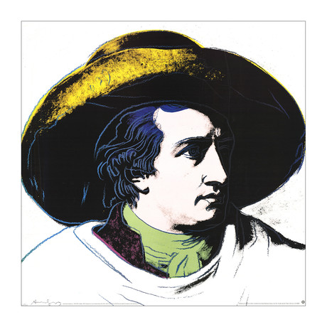Goethe Black and Yellow (Lg) // Andy Warhol // 1990 Offset Lithograph