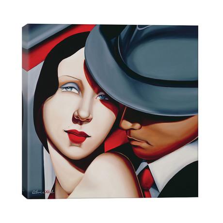 "Adam & Eve, Gangster Study // Catherine Abel (26""W x 26""H x 1.5""D)"