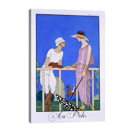 """At Polo, 1920-29 (pochoir print) // George Barbier (26""""W x 40""""H x 1.5""""D)"""