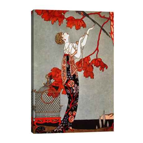 "1914 Oriental Red // George Barbier (26""W x 40""H x 1.5""D)"