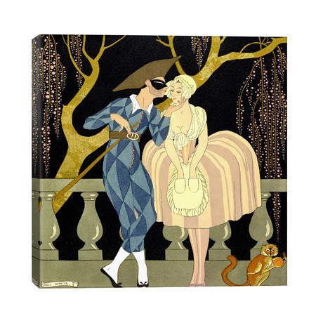 "Harlequin's Kiss (w/c on paper) // George Barbier (26""W x 26""H x 1.5""D)"