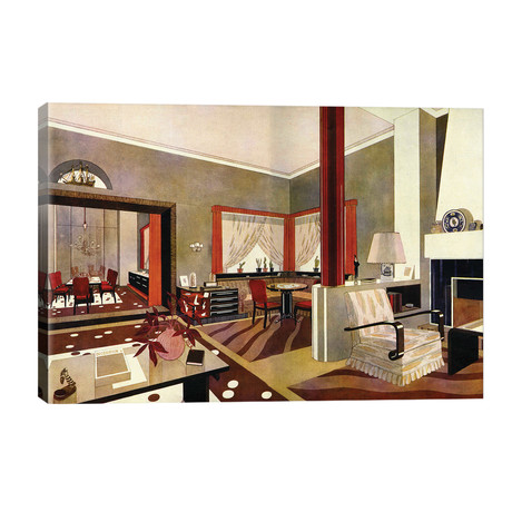 1930s Art Deco Interior // The Advertising Archives