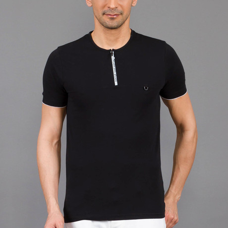 Zip Shirt // Black (S)