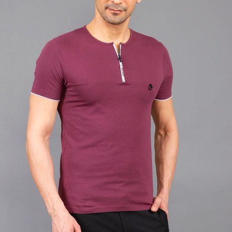 Zip Shirt // Claret Red (S)