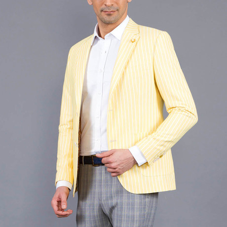 Pin Striped Jacket // Yellow (Euro: 46)