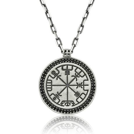 "Viking Compass // Silver (22"")"