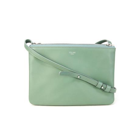 Celine // Women's Trio Shoulder Bag // LightGreen