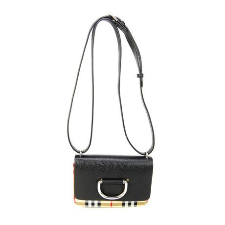 Burberry // Women's Mini Vintage Check D-Ring Crossbody Bag // Black