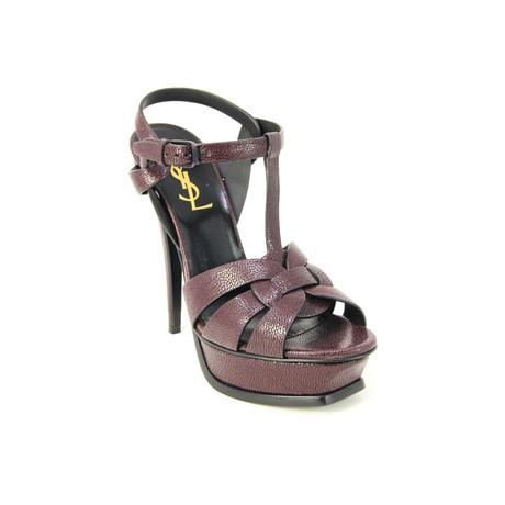 Yves Saint Laurent // Women's Tribute Platform Sandal // Burgundy (Euro: 35)