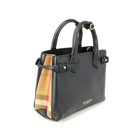 Burberry // Women's Banner House Check Derby Tote // Black
