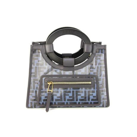 Fendi // Women's FE2387 Mini Runaway Mesh Shopping Tote // Black