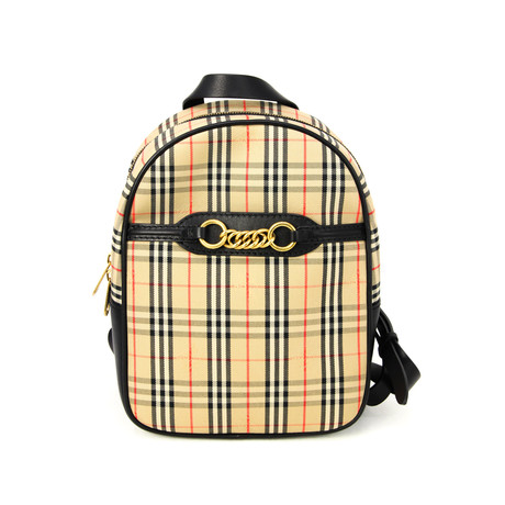 Burberry // Women's 1983 Check Link Backpack // Black