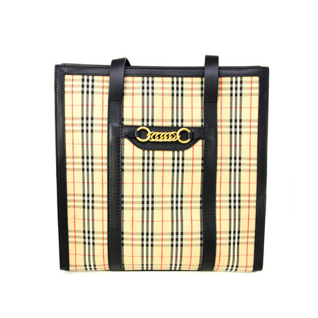 Burberry // Women's 1983 Check Link Tote // Black