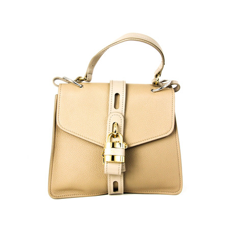 Chloe // Women's Aby Shoulder Bag // Beige