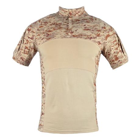 T-Shirt // Light Brown + Camouflage Print (XS)