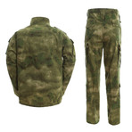 Jacket + Trousers Set // Green + Camouflage Print (2XL)