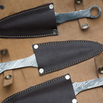 Throwing Damascus Knives // Set of 3