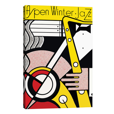 """Aspen Winter Jazz, 1967 // Roy Lichtenstein (26""""W x 40""""H x 1.5""""D)"""