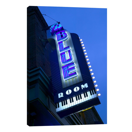"The Blue Room Jazz Club, 18th & Vine Historic Jazz District, Kansas City, Missouri, USA // Panoramic Images (26""W x 40""H x 1.5""D)"