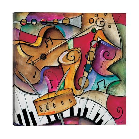 "Jazz It Up II // Eric Waugh (26""W x 26""H x 1.5""D)"