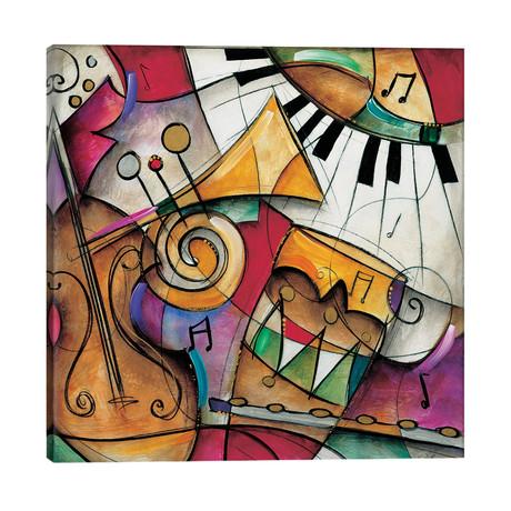 "Jazz It Up I // Eric Waugh (26""W x 26""H x 1.5""D)"
