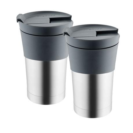 Essentials // Stainless Steel Travel Mug // 0.35 Qt // Set of 2
