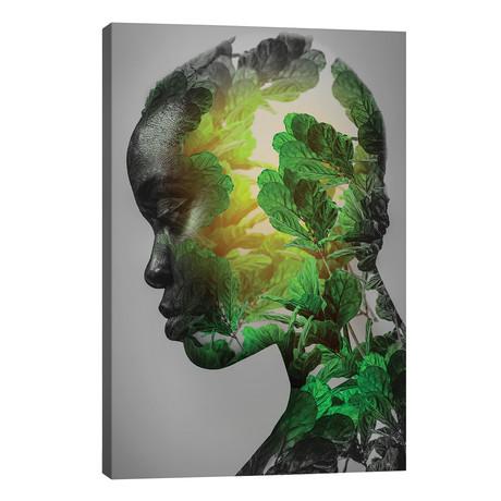 """Green Woman // fndesignart (26""""W x 40""""H x 1.5""""D)"""
