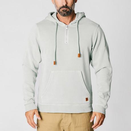 Quarter Zip Sweatshirt // Heather Gray (S)