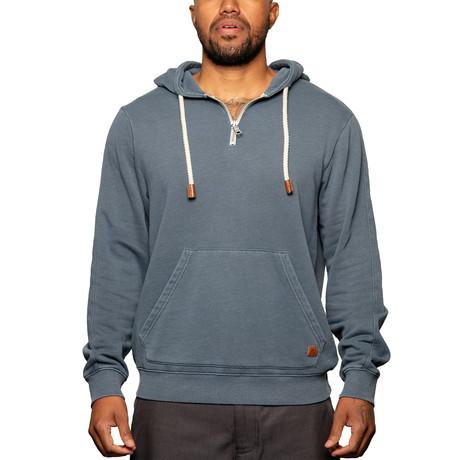 Quarter Zip Sweatshirt // Midnight Navy (S)