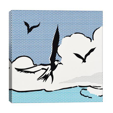 """Seagulls // Toni Sanchez (26""""W x 26""""H x 1.5""""D)"""
