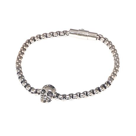 Dell Arte // Skull Bracelet // Silver