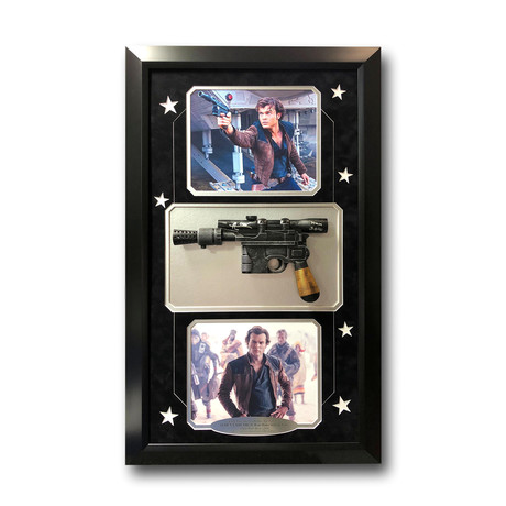 Alden Ehrenreich // Signed Han Solo Blaster Gun Collage