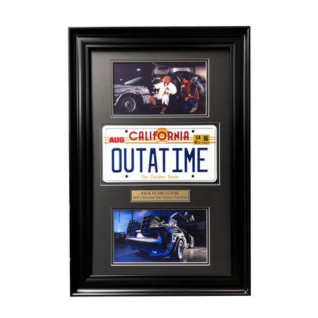 Back to the Future // DeLorean License Plate Collage