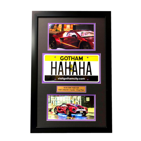 Suicide Squad // Joker License Plate Collage