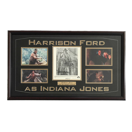 """Harrison Ford // Signed """"Indiana Jones and the Temple of Doom"""" Collage"""