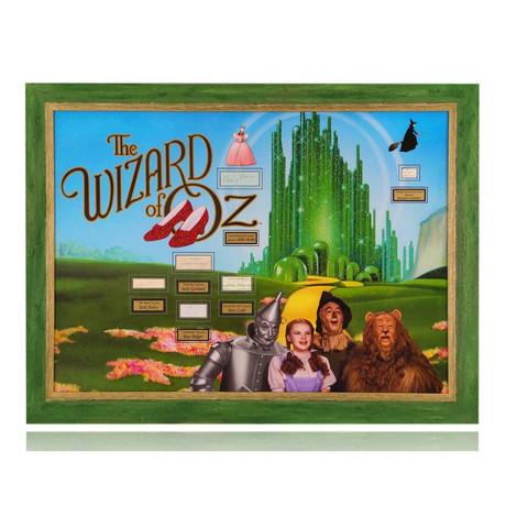 The Wizard Of Oz // Cast Signed One-Of-A-Kind Photo Collage