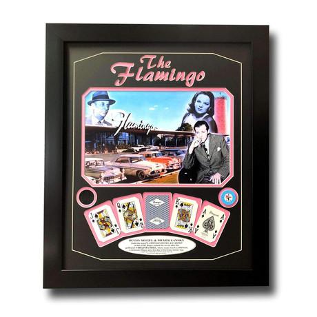 """Flamingo"" Las Vegas Casino Display // Poker Chip, Playing Cards, & Suit Swatch"