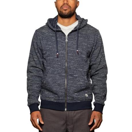 Mavrick Full Zip Sweatshirt // Navy (S)