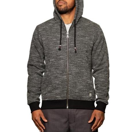 Mavrick Full Zip Sweatshirt // Black (S)