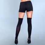 Illusion Clip Garter Thigh Highs // Black