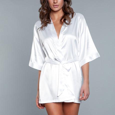 Home Alone Robe // White + White (Small)