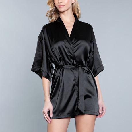 Home Alone Robe // Black + Black (Small)